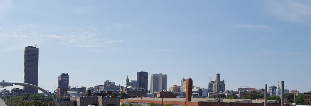 Buffalo skyline from office windows