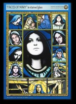 """Faces of Mary"" is a more-than 500 piece puzzle available from the Stained Glass Association of America."