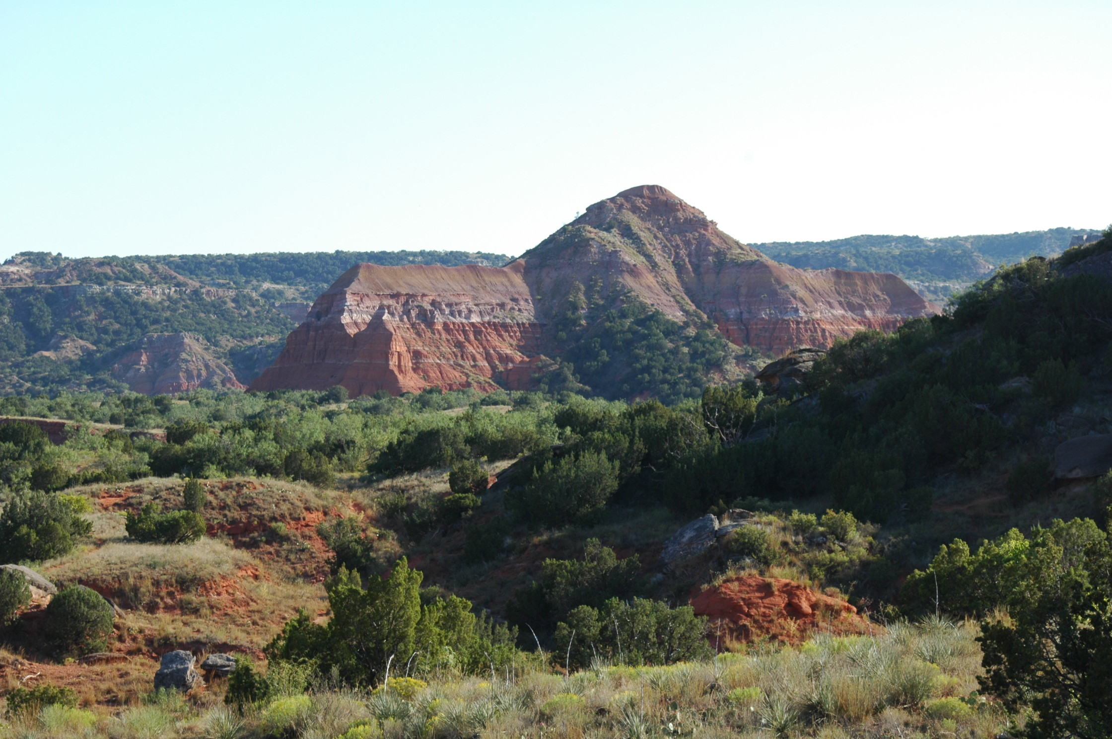 Palo Duro Canyon is a canyon system of the Caprock Escarpment located in the Texas Panhandle near the cities of Amarillo and Canyon.